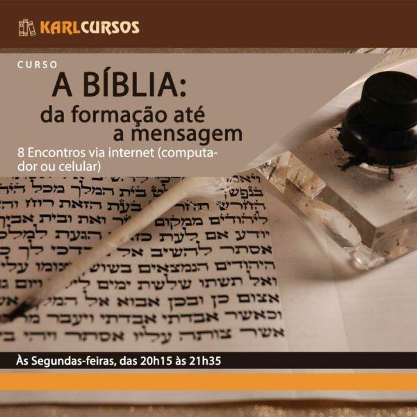 Imagem de divulgação do curso Curso A Bíblia: da formação até a mensagem, ministrado por Dr. karl Kepler