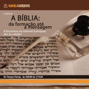 Curso A BÍBLIA: da formação até a mensagem – 14/09 – Terças – das 20h00 às 21h20