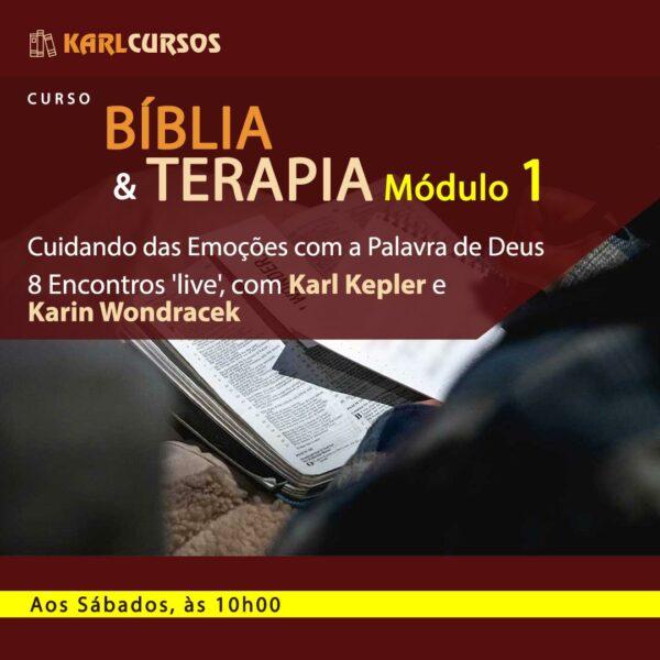 Imagem de anúncio do Curso Bíblia e Terapia Módulo 1 - Ministrado por Dr. Karl Kepler