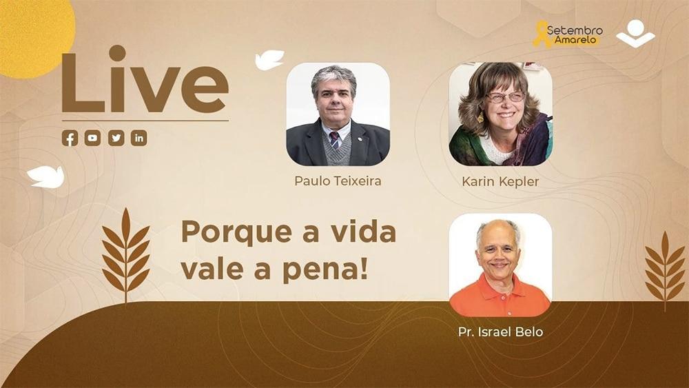 Live da Sociedade Bíblia Brasileira sobre o tema Porque a Vida Vale a Pena.